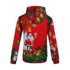Hommes Polyester Coton Mélange de coton Inmprimé Père Noël Sweat de Noël