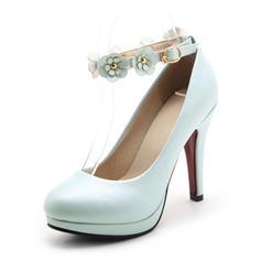 Femmes Similicuir Talon stiletto Escarpins Plateforme Bout fermé avec Motif appliqué chaussures