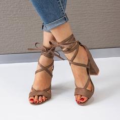 De mujer PU Tacón stilettos Sandalias Salón con Correa Trenzada zapatos