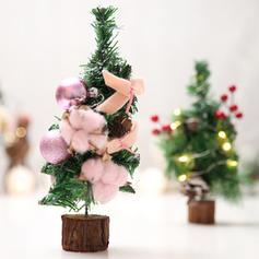 Merry Christmas Tabletop PVC Wooden Christmas Tree