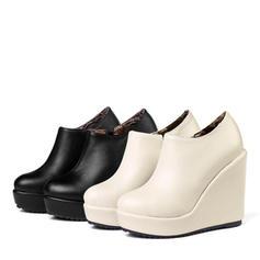 Donna Similpelle PU Zeppe Stiletto Piattaforma Punta chiusa Zeppe con Altrui scarpe