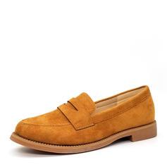 Dla kobiet Zamsz Płaski Obcas Plaskie Zakryte Palce obuwie