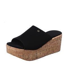 Vrouwen PU Wedge Heel Sandalen Wedges Slippers met Klinknagel schoenen