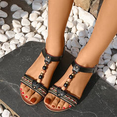 Women's PU Wedge Heel Sandals Wedges Peep Toe With Buckle shoes