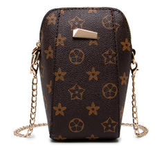 Women Plaited Pattern Phone Bag Mini Crossbody Smartphone Purse