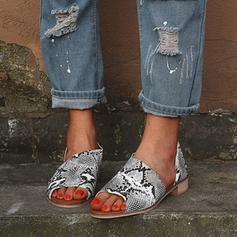 Femmes PU Talon stiletto Sandales À bout ouvert avec Semelle chaussures