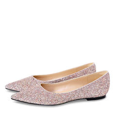Women's Sparkling Glitter Flat Heel Closed Toe Flats