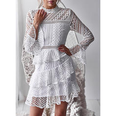Lace Long Sleeves A-line Above Knee Party Dresses