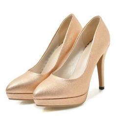 Women's Leatherette Cone Heel Pumps Platform Closed Toe shoes