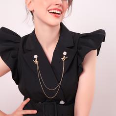 Einzigartig Legierung mit blumen Frauen Mode-Broschen