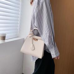 Elegante/Vintage/Cor sólida/Simples Bolsa de Ombro