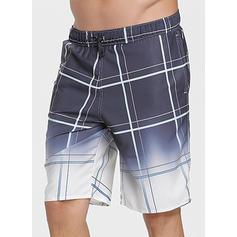 De Los Hombres Cuadrícula Pantalones cortos Traje de baño