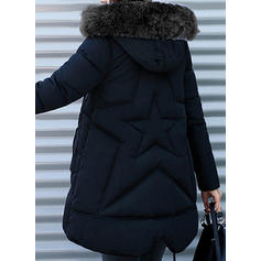 Mieszanki bawełniane Długie rękawy Jednolity kolor Długie Płaszcze