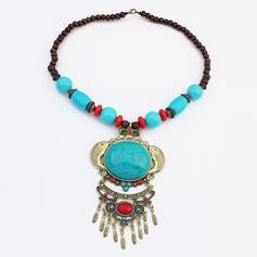 Stylish Vintage Alloy Resin Women's Necklaces