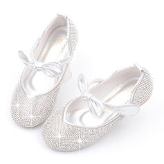Girl's Leatherette Round Toe Closed Toe Flower Girl Shoes With Bowknot