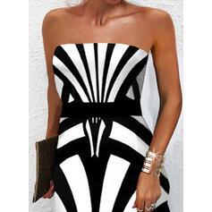 Print Sleeveless A-line Above Knee Elegant Skater Dresses
