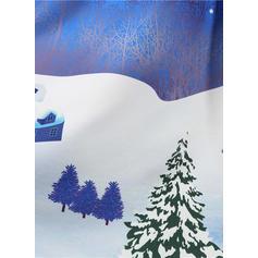 Print Lange Mouwen A-lijn Knielengte Vintage/Kerstmis/Feest/Elegant Jurken