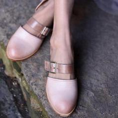 Femmes PU Talon bas Sandales avec Boucle chaussures