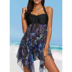 Floreale Stampa A bikini Bella Taglia grossa Costumi da Bagno Donna Costumi Da Bagno