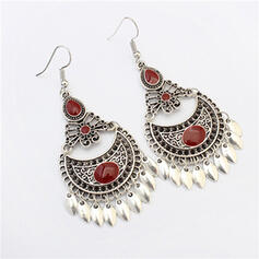 Vintage Alloy Acrylic Earrings