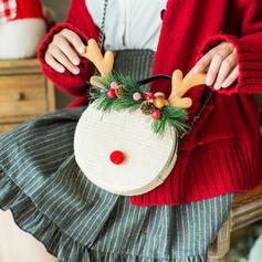 Elegant/Braided/Christmas Tote Bags