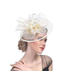 Signore Elegante Cambrì con Piuma Fascinators/Cappelli da Tea Party