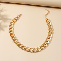 Klasszikus Link & Chain Ötvözet Egynemű nyakláncok
