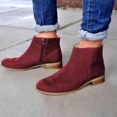 De mujer Ante Tacón bajo Botas con Cremallera zapatos