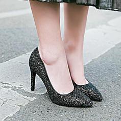 Femmes Pailletes scintillantes Talon stiletto Escarpins Bout fermé avec Paillette chaussures