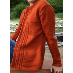 Solid Cable-knit Sweaters