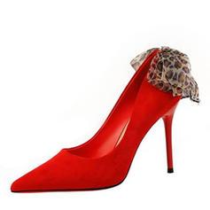 De mujer Terciopelo Tacón stilettos Salón con Cordón zapatos