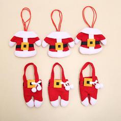 Merry Christmas Santa Non-Woven Fabric Tableware Cover