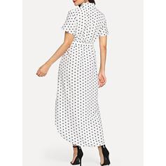 PolkaDot V-neck Midi Shift Dress