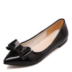 Femmes Similicuir Talon plat Chaussures plates avec Bowknot chaussures
