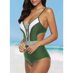 Stripe Strap Sexy Plus Size One-piece Swimsuits