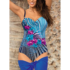 Floral Strap U Neck Sexy Classic Attractive One-piece Swimsuits