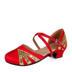 Kvinner Ballrom Flate sko Satin Glitrende Glitter Ballrom
