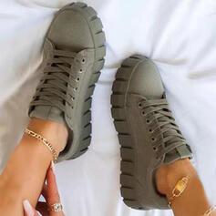 Dla kobiet PU Tenisówki Z Sznurowanie obuwie