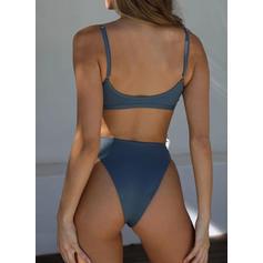 Low Waist High Leg Strap Sexy Bikinis Swimsuits