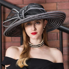 Ladies ' Classic Kambriske Diskette Hat/Kentucky Derby Hatte
