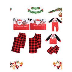 Babbo Renna Tartan Lettera Stampa Famiglia Partita Di Natale Pajamas