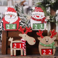 Merry Christmas Snowman Reindeer Santa Tabletop Wooden Christmas Décor Diy Craft Christmas Advent Calendar
