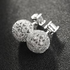 Chic Rhinestones Copper With Rhinestone Ladies' Fashion Earrings