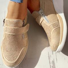 Mulheres Camurça Casual Outdoor com Strass sapatos