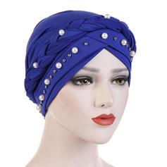 Dames Style Classique Coton avec Strass/De faux pearl Disquettes Chapeau