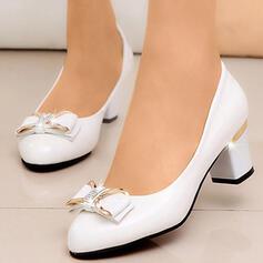 Femmes PU Talon bottier Escarpins Bout pointu avec Bowknot chaussures