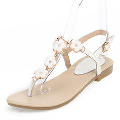 Women's Real Leather Flat Heel Sandals Flats Peep Toe Slingbacks With Buckle Flower shoes