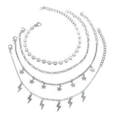 Alloy Beach Jewelry Anklets (Set of 4)