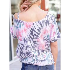 Tie Dye Round Neck 1/2 Sleeves T-shirts