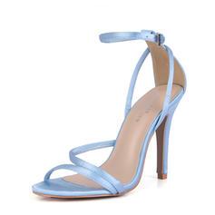 Femmes Plastiques Talon stiletto Sandales Escarpins À bout ouvert avec Boucle chaussures